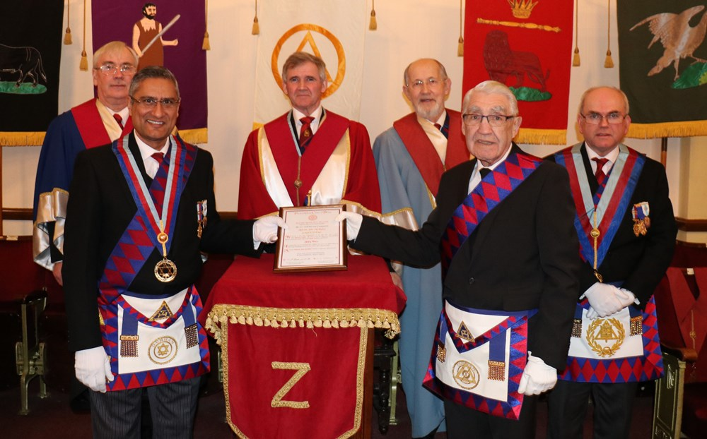 Malcolm John McKinlay Celebrates 50 years in Moseley Chapter