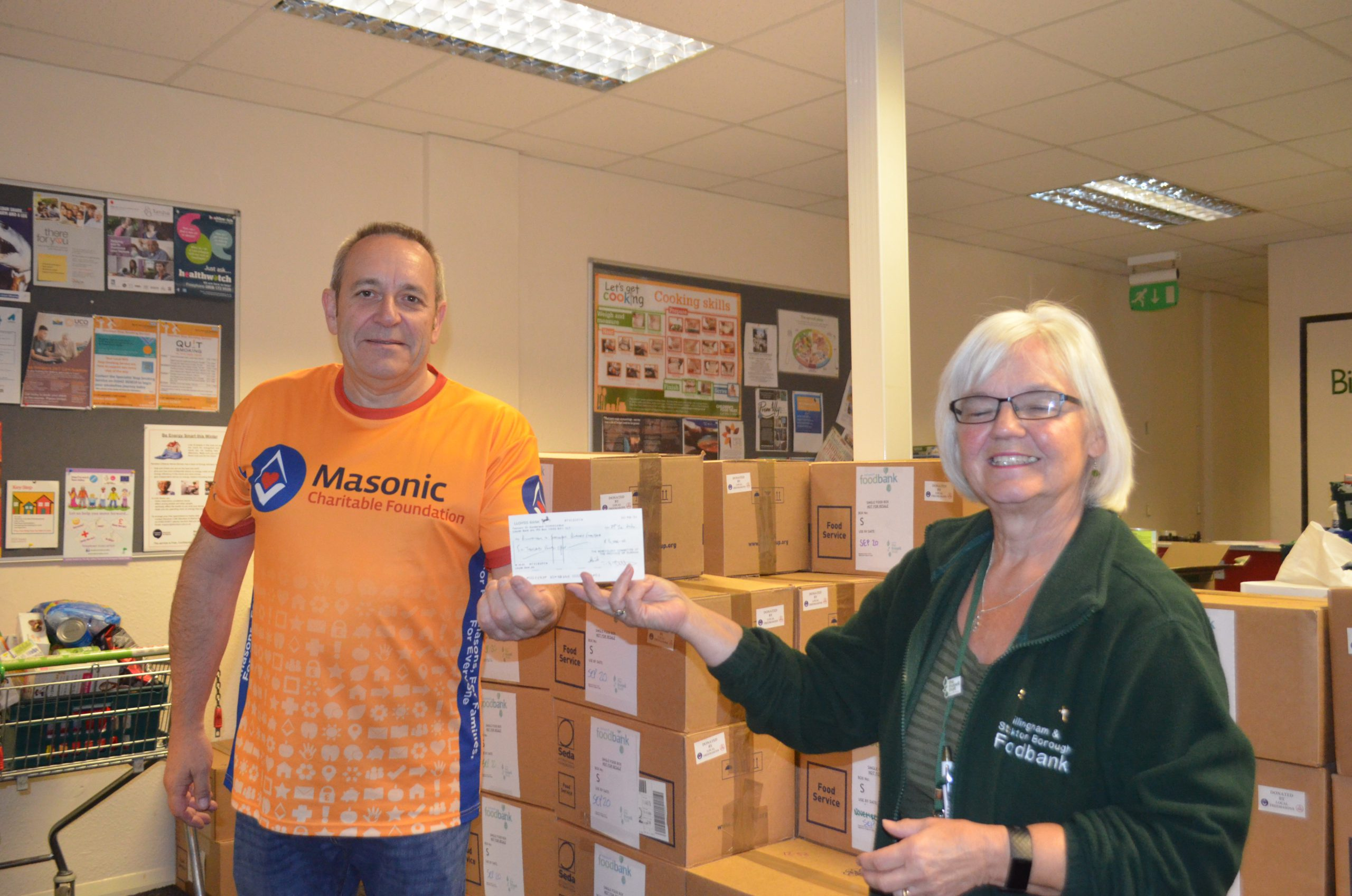 £6,000 COVID-19 Support Grant from Durham Freemasons.